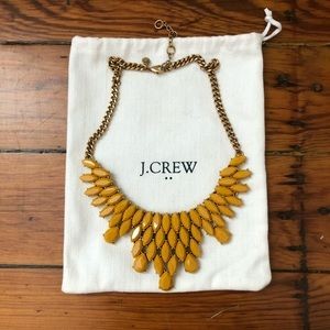 J Crew Mustard Yellow Collar Necklace